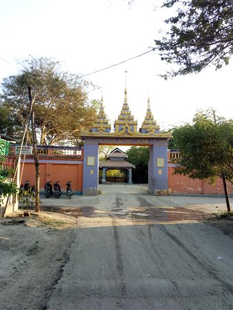 Mandalay Region, Myanmar: The entrance gate of Maung Yin Paw Chauk, where Buddhist monk was supposed to be enlightened