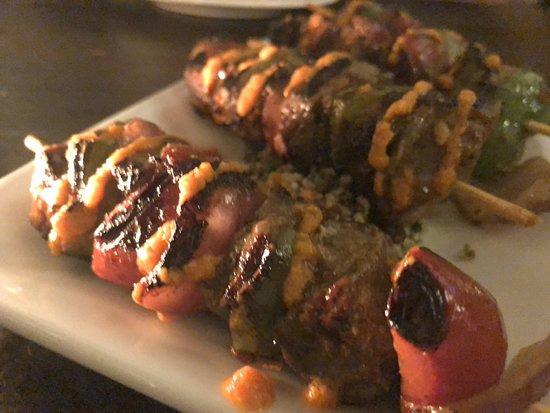Alegrias Spanish Tapas: Beef Skewers - Pinchos de Cordero