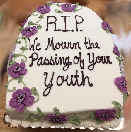 Tombstone Birthday Cake Westhampton Pastry Shop Richmond VA