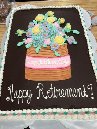 Surprising Retirement Cake Westhampton Pastry Shop Richmond Va Picture Of Funny Birthday Cards Online Elaedamsfinfo