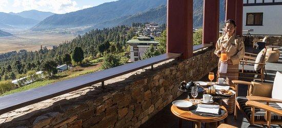 Gangtey, Бутан: Dining with a view