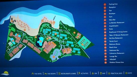TUI Sensimar Lagoon Mauritius: Map