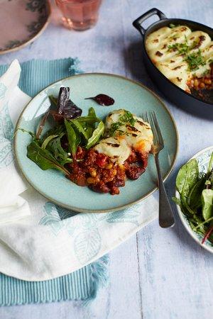 Alderley Edge, UK:  Hearty Vegan Chilli Pie