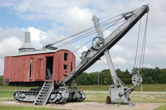 Pittsburg, KS: The Dragline Bucket on display were donated by the Wilkinson family.