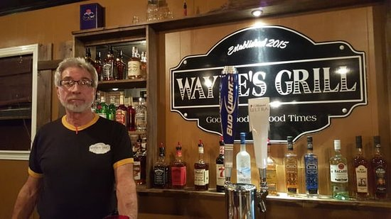 Livingston, TN: Wayne and the bar.