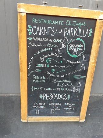 El Zagal Restaurante: OTRAS OPCIONES