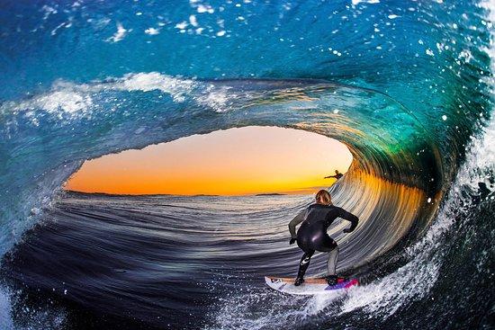 Experience Surf School (Manu Portet): Tube à Bidart aprés des cours