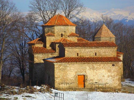 Old monastery complex called Dzveli Shuamta in Kakheti Region, Georgia