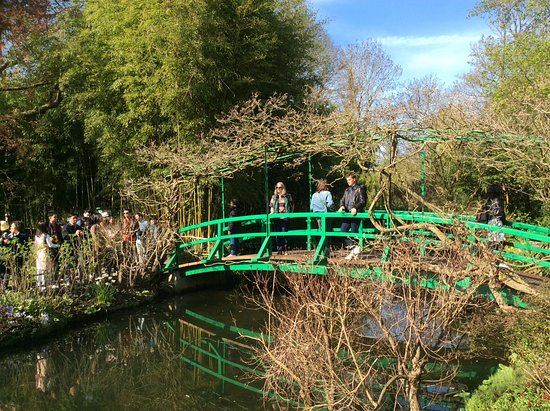 Claude Monet's House and Gardens: The classic Monet bridge but no longer blue