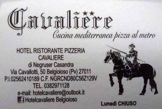 Belgioioso, Italy: Biglietto retro
