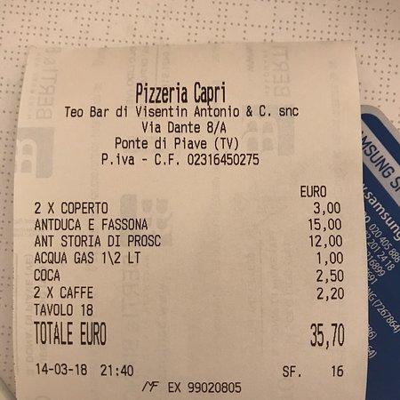 Ponte di Piave, Italia: Pizzeria Capri