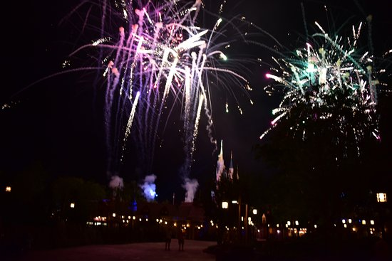Happily Ever After Fireworks: lots of colors!