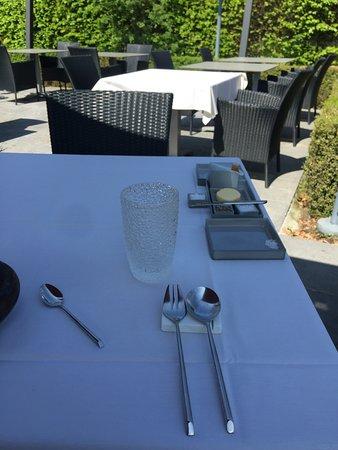 Dilsen-Stokkem, Belgia: De Tuin ten Huize Clevers , Een Kuuroord voor diegene dat het Culinaire Michelin pad bewandelt.