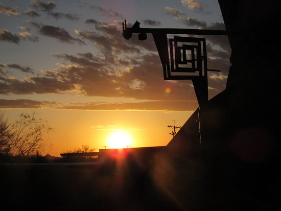 It was taken at sunset at Taliesin West near the entrance.