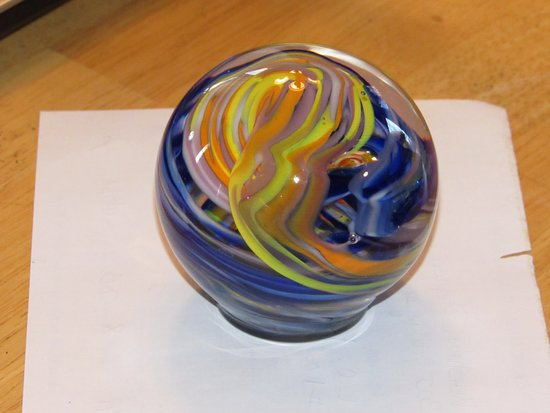Corning, NY: Paper weight that I made.