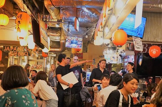Tokyo Bar Hopping Tour in Shibuya - Go into the deep indoor food...