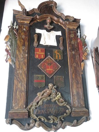 Dutch Reformed Church: Carved wooden memorial to Abraham Samland, Commander of Galle