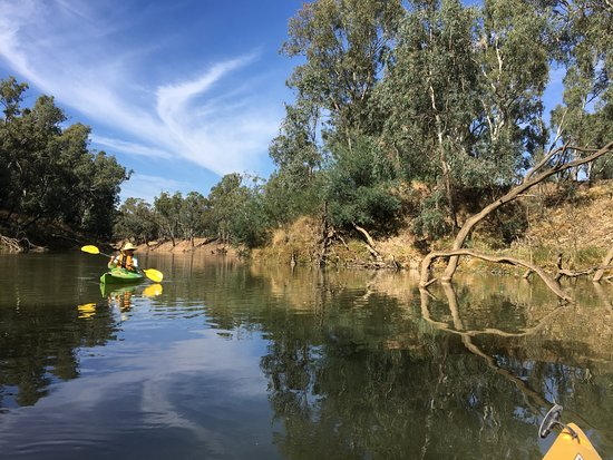 Kyabram, ออสเตรเลีย: The reflections in the water are beautiful, and it's just so peaceful. We didn't see anyone else