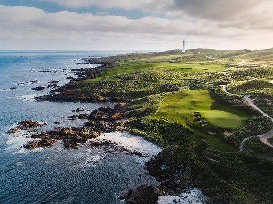 King Island, Avustralya: Cape Wickham Links, Par 3, 17th (reverse)