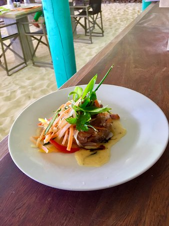 Anse Royale, Seychelles: Smoked fish salad made with fresh & local products