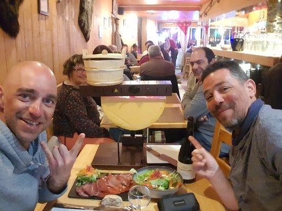 Aragnouet, فرنسا: Raclette party