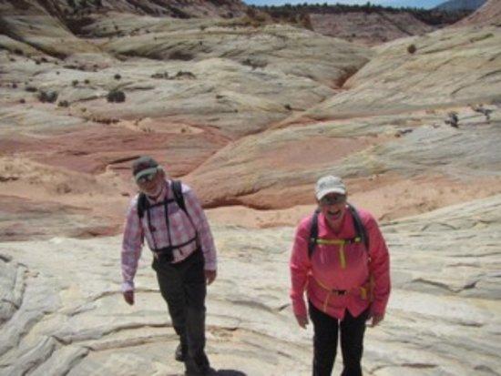 Desert DAWN: Hiking across the slick rock