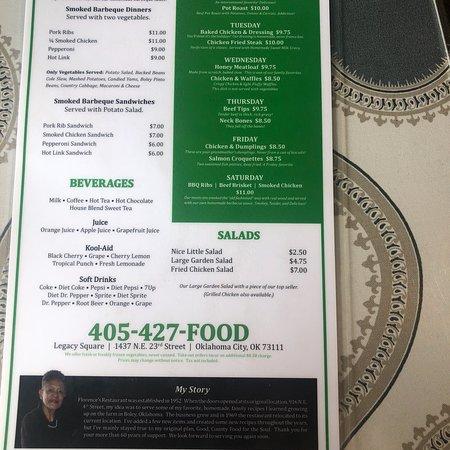 Florence's, Oklahoma City - Menu, Prices & Restaurant Reviews