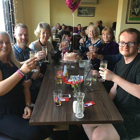 Swinton, UK: Birthday celebration