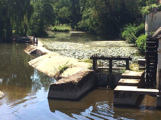La Trimouille, France : Les jeunes pêcheurs à notre rivière