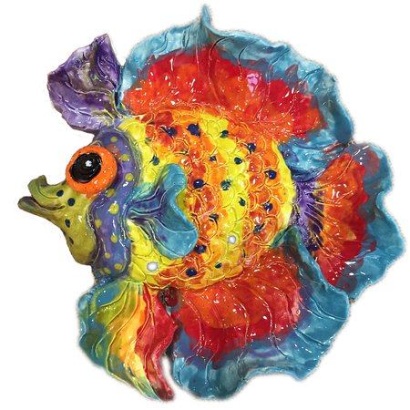 make a similar fish your self out of clay with lynn our potter then