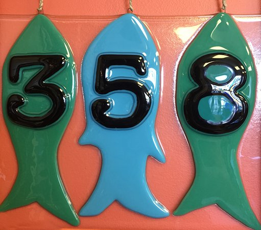 The Art Studio : Fuse your house numbers here! A non fading way to make your house stand out on the street!
