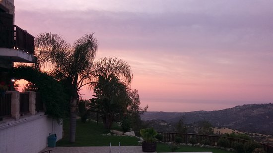 Paradisos Hills: Sunset view from the terrace
