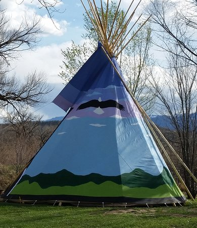 Silt, CO: Teepee camping in the northwestern portion of the campgrounds.