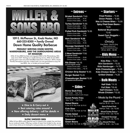 Knob Noster, MO: Miller & Sons BBQ