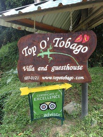 Arnos Vale, Tobago: Roadway Sign