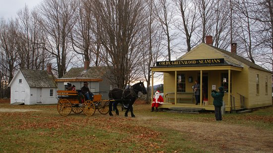 New London, NH: Santa rests at the Country Store during our First Sunday of December Open House