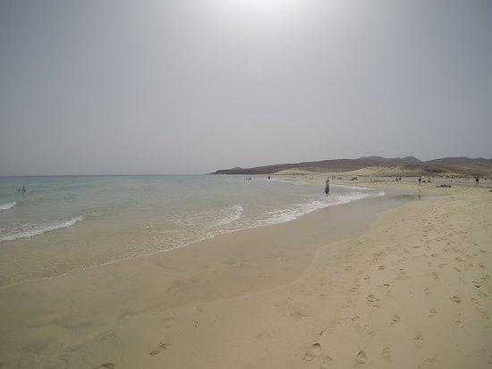 Playa de Sotavento (Playa Risco del Paso y Playa Barca): Vistas del Agua cristalina