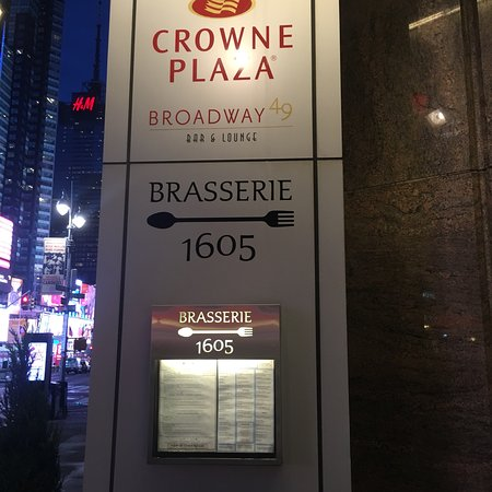 Brasserie 1605 at the Crowne Plaza Times Square: photo1.jpg