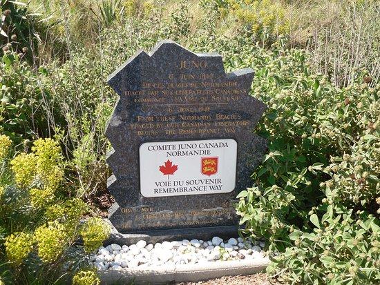 Musee de Courseulles : Memorial Stone