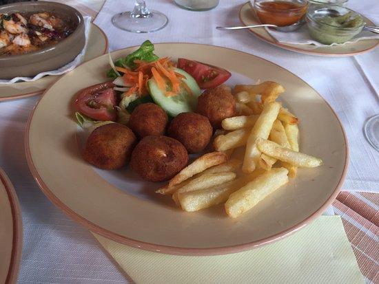 Restaurante la Puntilla Casa Menso: Croquetas (Muy ricas)
