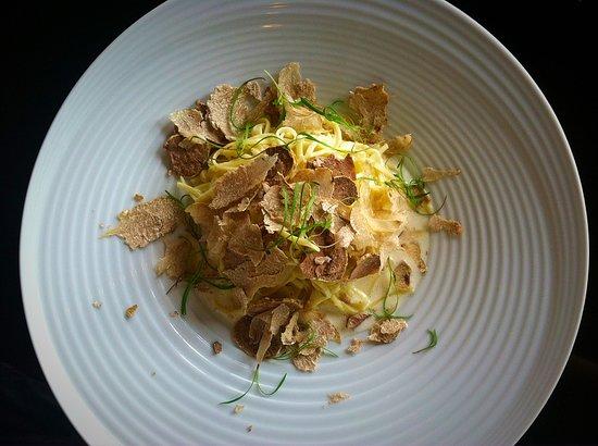 Rancho Santa Fe, CA: pasta with shaved truffles