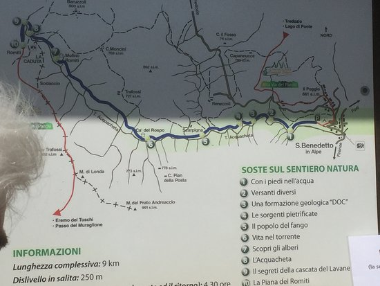 San Benedetto in Alpe, Italie : Mappa del percorso