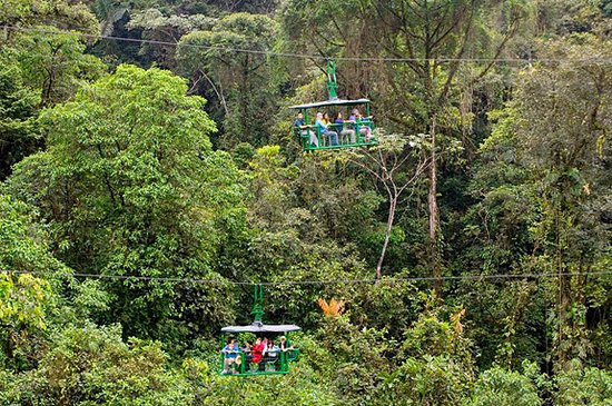 E-Plus Travel & Leisure: Aerial Tram at the Braulio Carillo rain-forest national park.
