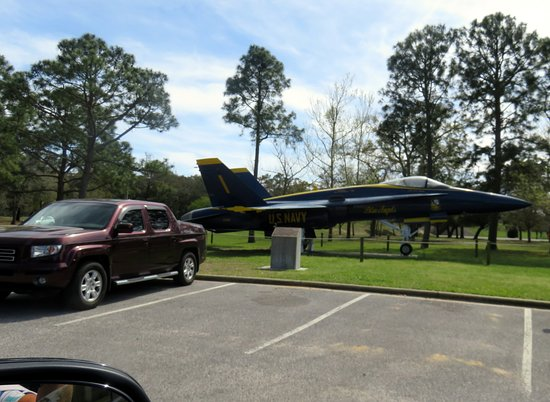 Pensacola Naval Air Station: as the base police officer walks you to the exit side, this is the only plane you'll see