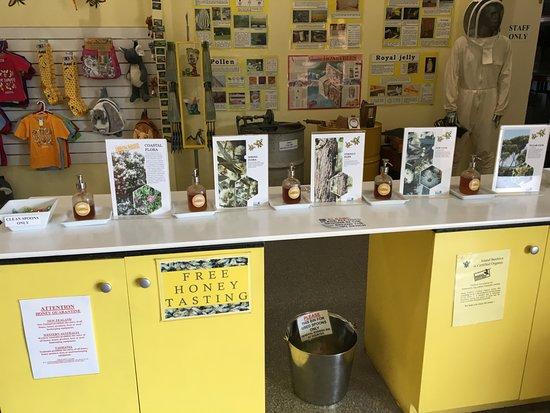 Kingscote, Austrália: Honey for tasting