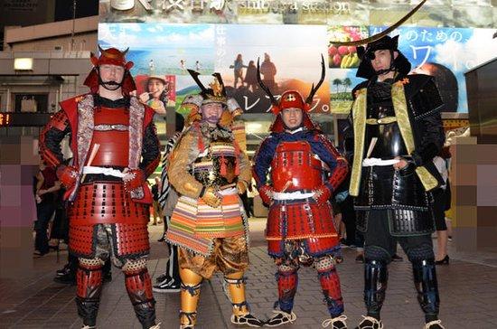 Samurai photo shooting at Street in Shibuya