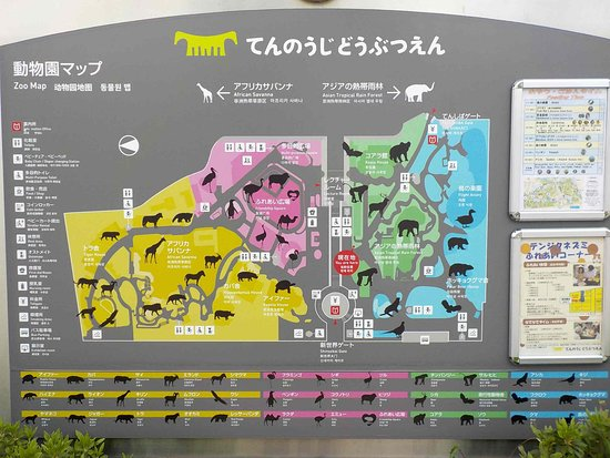 Zoo map - Picture of Tennoji Zoo, Osaka - TripAdvisor