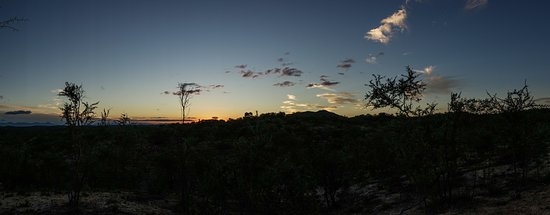 Grietjie Nature Reserve, Южная Африка: Sunset on the evening game drive.
