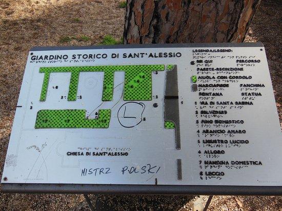 Piante Per Recinzioni Giardino.La Targa Con La Pianta Picture Of Giardino Di Sant Alessio