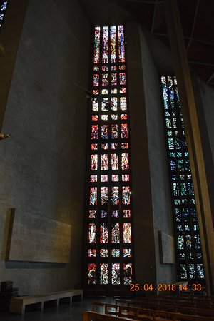 Coventry, UK: One of the modern stained glass windows